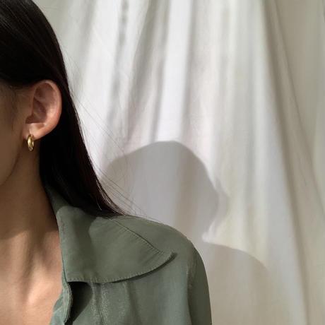qamar hoop pierce -gold-