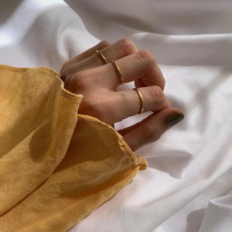 flat ring -gold-