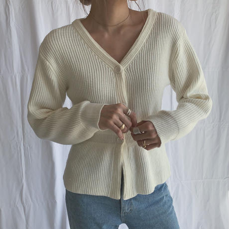 v neck knit cardigan