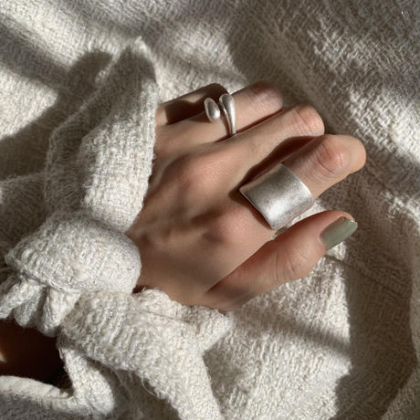 matte shield ring -silver-