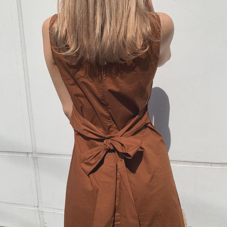 back ribbon long dress