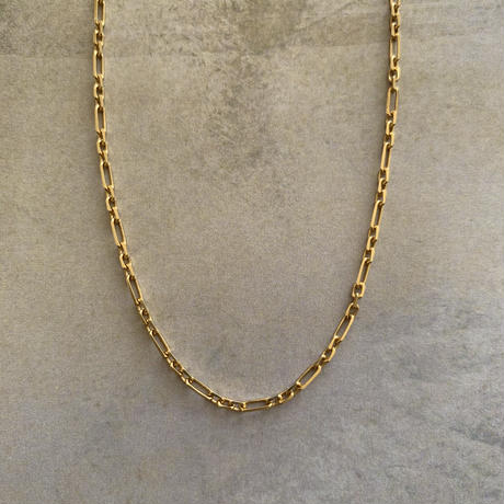 925 figaro chain choker -gold-