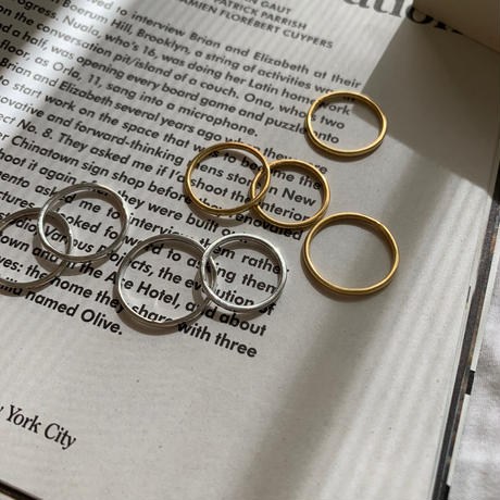 flat ring ( gold/silver ) -silver950-