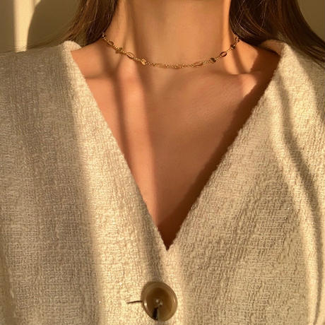 sparkle unique chain choker