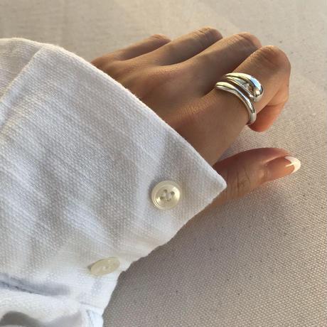 volume twist ring -silver-