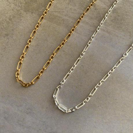 925 figaro chain choker -silver-