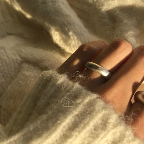 matte open ring -silver-