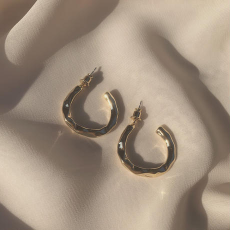distorted hoops (post silver925)
