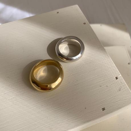 undulating ring -silver-