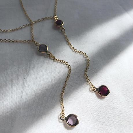 72  disco stone necklace