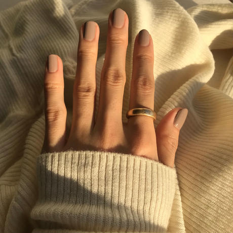 matte open ring -gold-