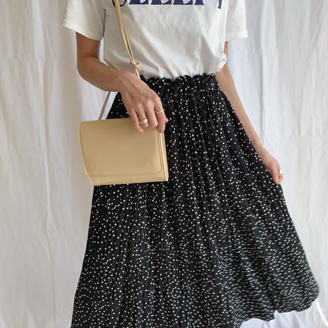-dot pattern- long skirt