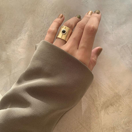 onyx plate ring
