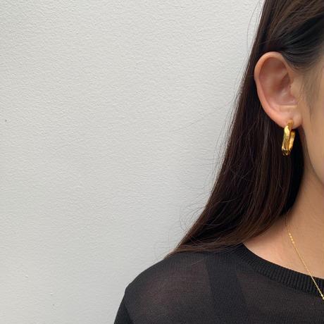 zen hoop pierce -gold-