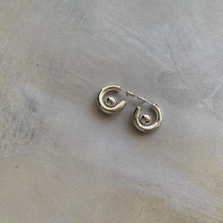 arush hoop pierce -silver-