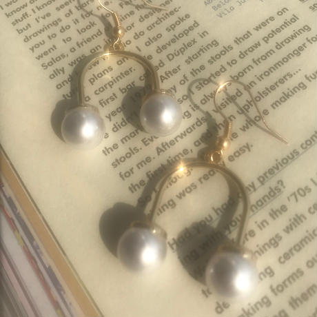 cherry pearl earrings