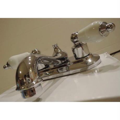 GLACIER BAY洗面用混合水栓102ー856シルバーハンドルキャップ  お湯用水用1セット