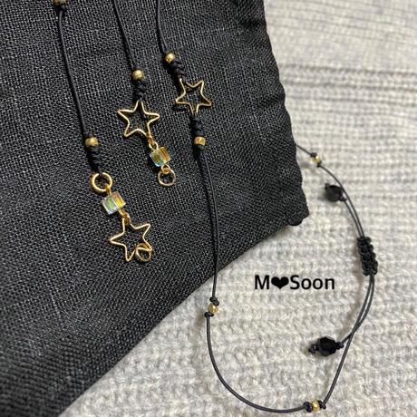 【 MASK CORD ・STAR】華奢タイプ 3color