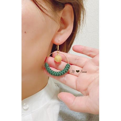 【moon・smile】4color  ピアス&イヤリング