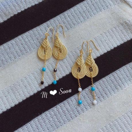 【しずく・mini】ゴールド ×スワロフスキー  2color ピアス&イヤリング