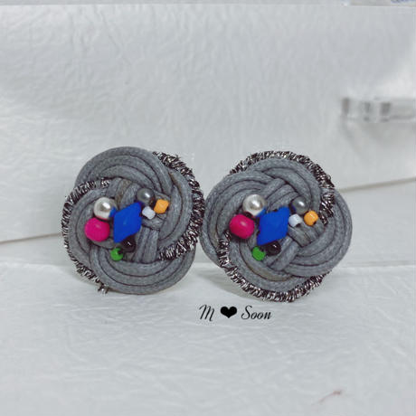 【フラワー・リズム】3color ピアス&イヤリング