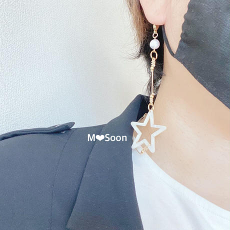 【MASK CORD・STAR】アシンメトリー 2color