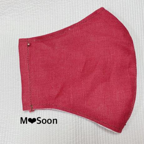 【  麻マスク・4color】men'sサイズ