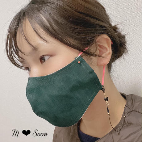 【MASK CORD 】BLACKスワロフスキー ×ゴールド
