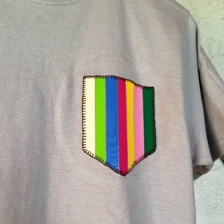 FAKE POCKET TEE (ストライプ)