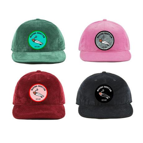 MUCHO corduroy flat-billed cap