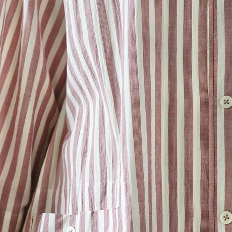 ピンクストライプのシャツチュニック〈CO's〉