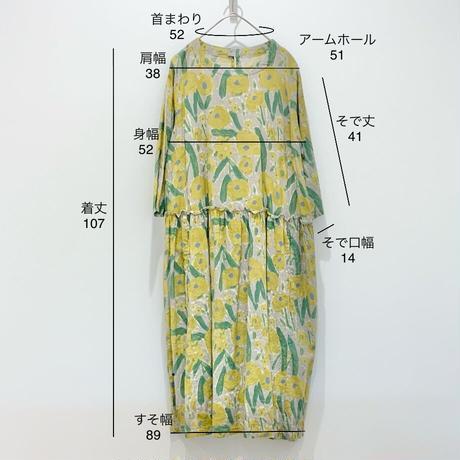 元気カラーの花柄ワンピース〈Particular〉