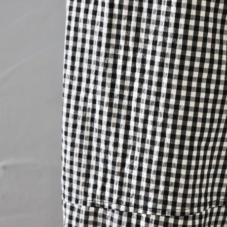 さらっと穿けるギンガムチェックのワイドパンツ〈Cotton House Aya〉