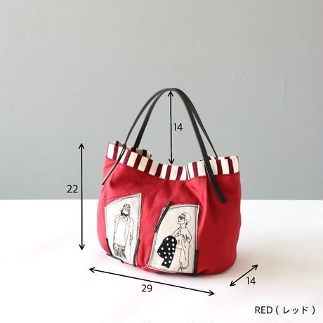 ステッチイラストの布かばん〈atempe〉