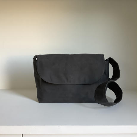 Paraffin canvas postman bag / dark gray