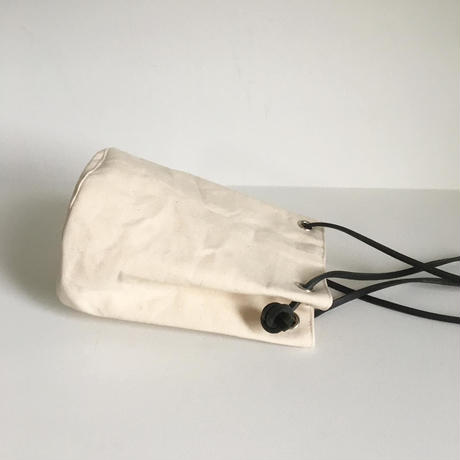 Canvas round bag Black  / b