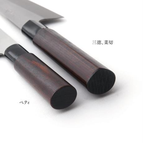三寿々型三徳包丁 V金 漆柄 刃長160mm