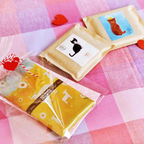スラウェシチョコレート<クランベリー>やまぐちみぐみさんの絵の包み紙
