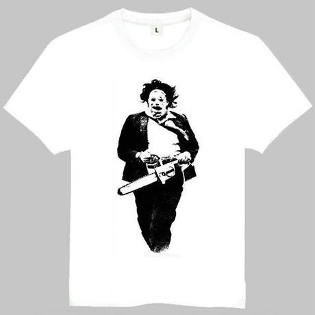 悪魔のいけにえTシャツ半袖白虐殺Leatherface Mant Tシャツ