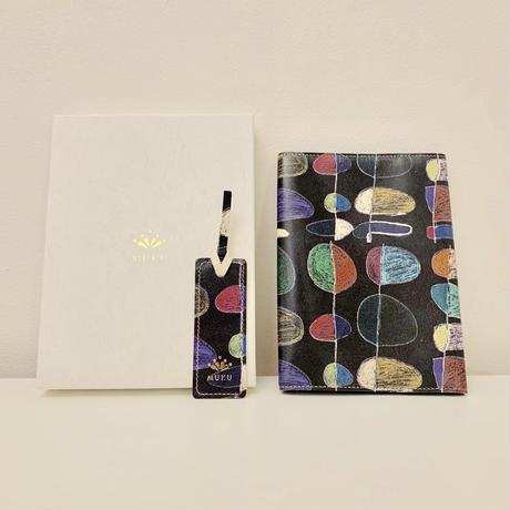 Koichi Tsuchiya 『葉っぱ』|本革製ブックカバー&しおりセット