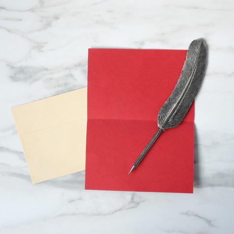 Chimanlals ペイズリー柄【メッセージカード&封筒】2枚セット