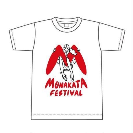 MUNAKATA GIRL Tシャツ (ホワイト)