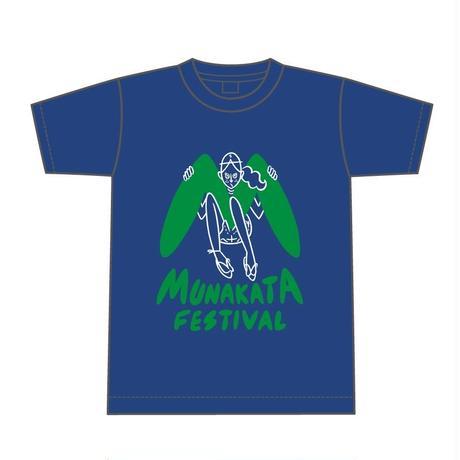 MUNAKATA GIRL Tシャツ (インディゴブルー)