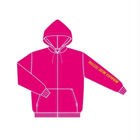 ジップパーカー (ピンク)
