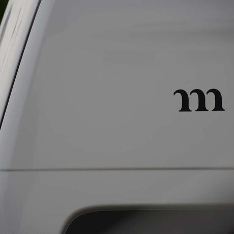 """m"" STICKER NEW (ブラック)"