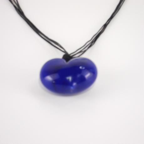 ハート型ネックレス ブルー