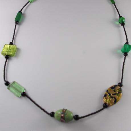 ムラノグラス ネックレス グリーン
