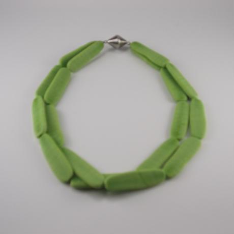 ムラノグラス ネックレス ライトグリーン