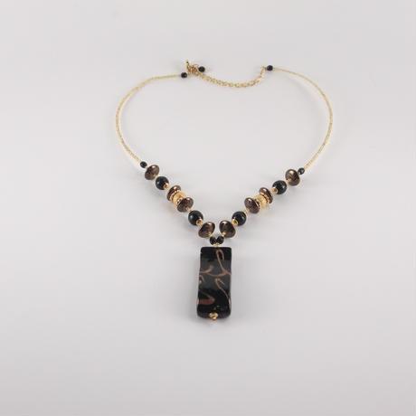ムラノグラス ネックレス ブラック