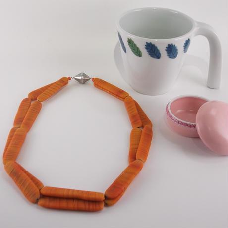 ムラノグラス ネックレス オレンジ